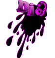 music dj splash vector image vector image