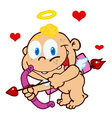baby cupid ready to do some match making vector image vector image
