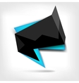 Abstract polygonal speech banner with black color vector image