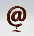 Chocolate dripping email symbol vector image