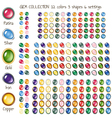 Gem icons vector image