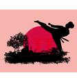 karate Grunge card vector image