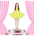 Model on stage vector image