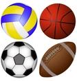 sports balls set vector image