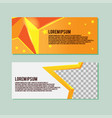 star yellow card banner template vector image
