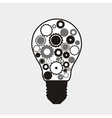 Technology abstract background with a light bulb vector image