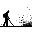 Leaf blowing vector image vector image