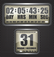 Countdown timer on octagon background vector image