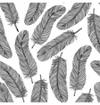 black-and-white Feather seamless background vector image