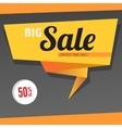 Big sale origami banner vector image