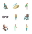 Accessibility icons set cartoon style vector image