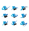 Alphabet E Logo Icons vector image