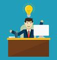 An innovation idea of employee vector image