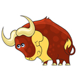 Bull Cartoon african wild animal character vector image