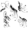 decorative motifs leaves vector image