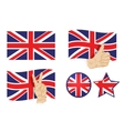 England britain uk flag vector image