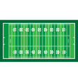 field for american football vector image