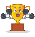 fitness trophy character cartoon style vector image