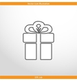 gift box web flat icon vector image