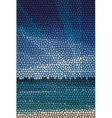 Mosaic abstract sea or ocean shore vector image