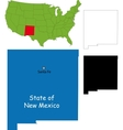 New mexico map vector image