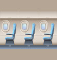 passenger airplane interior aircraft vector image