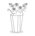Smoothie blackberry in style monoline vector image