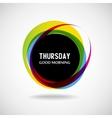 Thursday vector image
