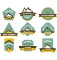 Tourism badges vector image