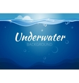 Underwater background in comic book style vector image
