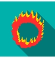 Ring of fire icon flat style vector image