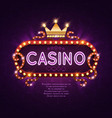 vegas casino retro light sign for game background vector image vector image