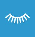 eyelash icon white on the blue background vector image