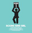 Boxing Ring Girl Symbol vector image