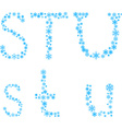 STU letters vector image