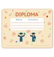 school kids diploma certificate vector image vector image