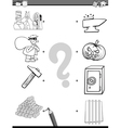 match elements coloring page vector image