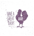 silhouette of rooster vector image vector image