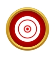 Circles within the circle icon in simple style vector image