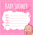 Baby Shower Card Its a girl vector image