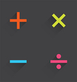 Basic Mathematical vector image