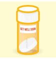 Get well soon healthy card vector image