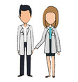medical staff avatars characters vector image