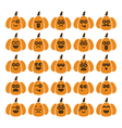 set of pumpkins with different emotions vector image