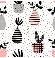 Vases and Pots Seamless Pattern vector image vector image