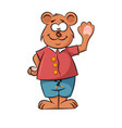 cute happy cartoon bear vector image