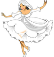 White cartoon woman vector image vector image