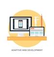 Adaptive web design vector image