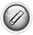 paperclip icon vector image vector image