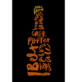 Beer Print for bar restaurant Calligraphy vector image